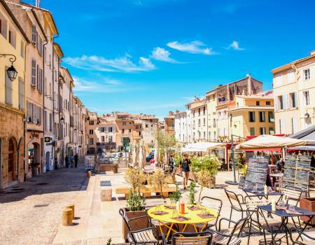 Provence city square in France