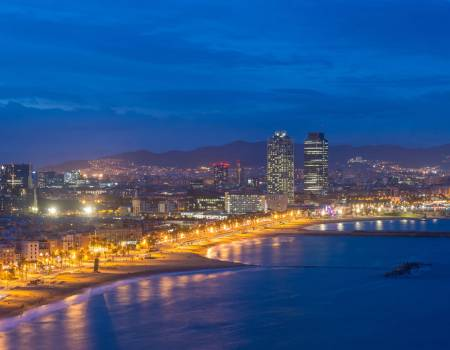 Barcelona City at Night