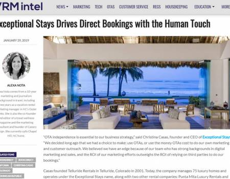 Exceptional Stays Drives Direct Bookings VRM Intel