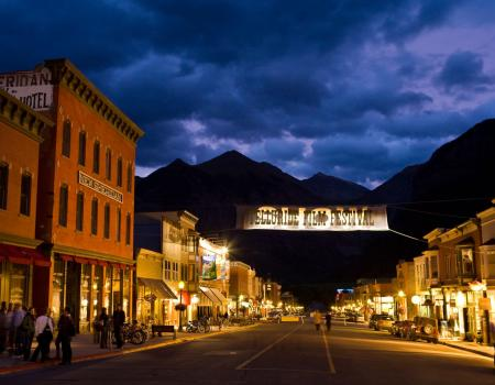 Downtown Telluride at Night