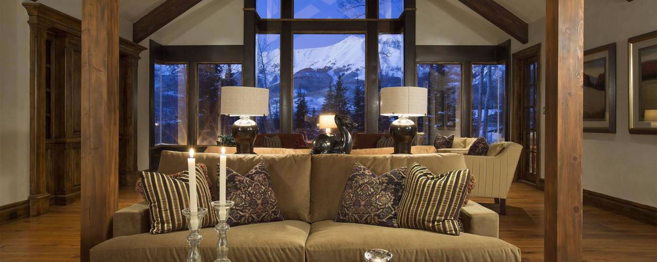 Knightsbridge Living Room with Snowy Mountain View