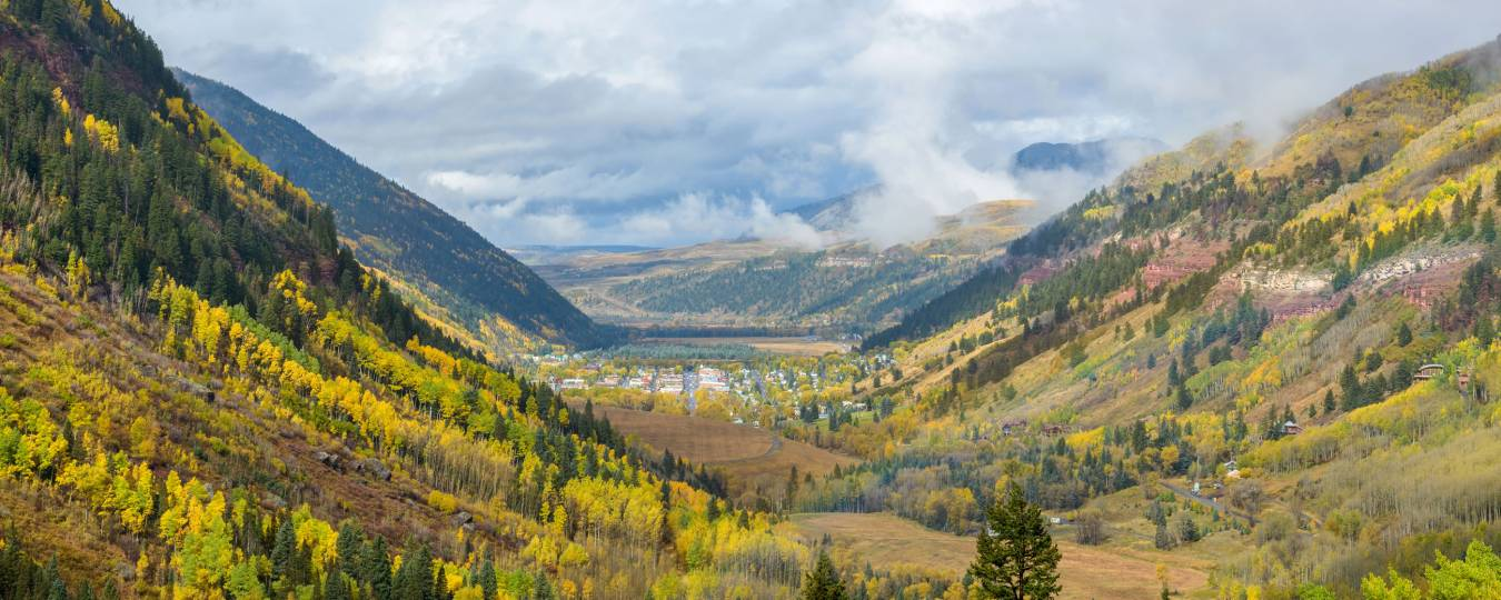 Telluride Valley in the Fall