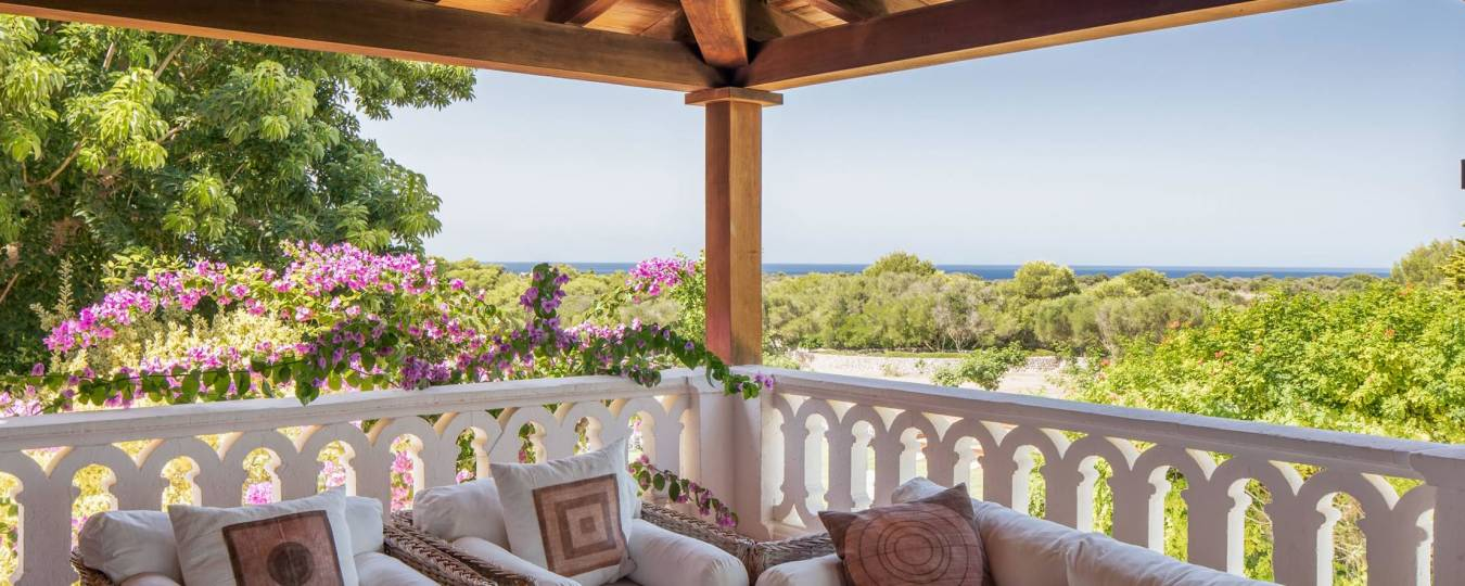 Secret Garden Menorca Vacation Villa Rental Deck View