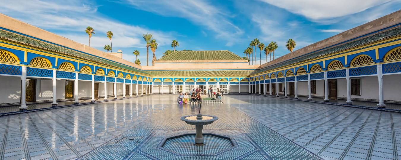 Courtyard at the Bahia Palace in Marrakesh