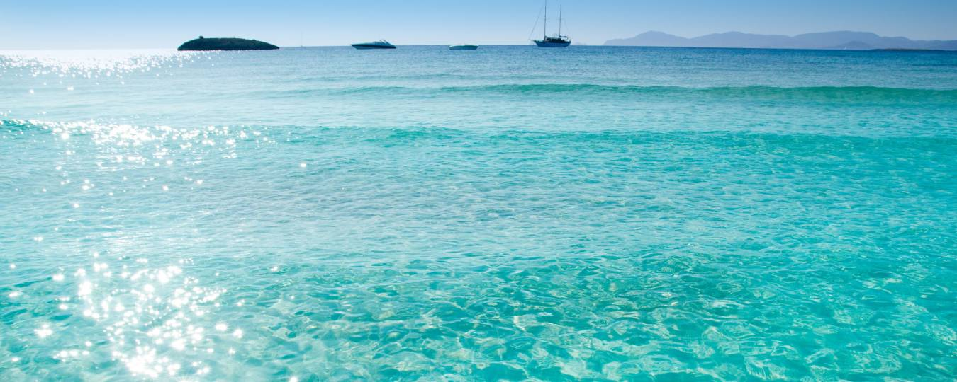 Clear Waters at Formentera Island, Ibiza Spain