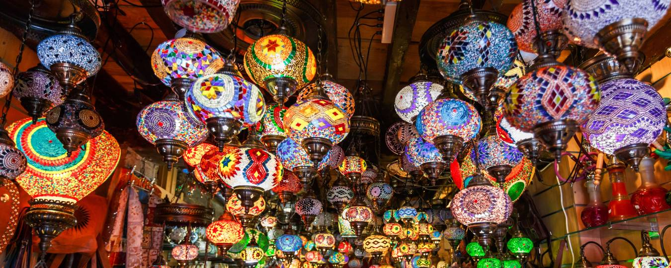 Hanging Lights at a Souk