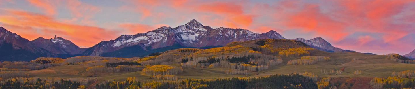 Telluride Sunset Mountains