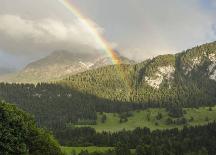 Rainbow in Gstaad