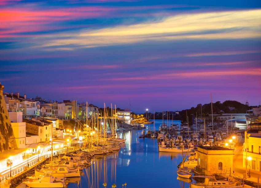 Marina in Menorca Spain