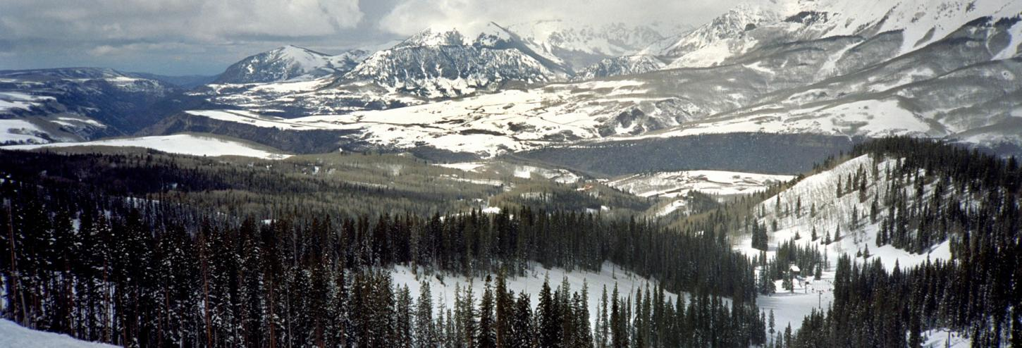 Telluride Mountains in Winter