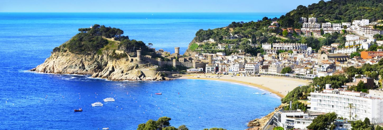 View of Tossa de Mar City - Costa Brava, Spain