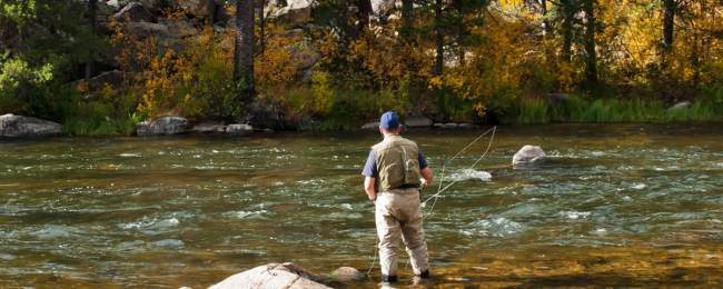 Man flyfishing near Telluride