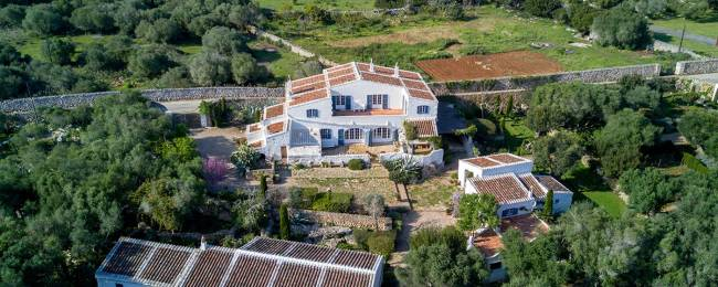Encanto in Menorca, Spain, Aerial View of the House and Property