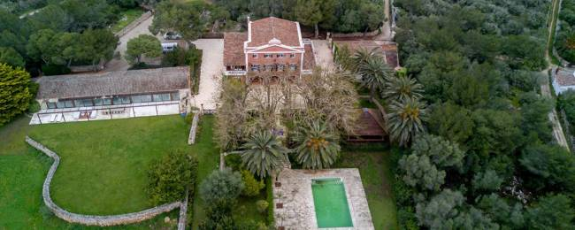 Secret Garden Menorca Vacation Villa Rental Aerial Shot