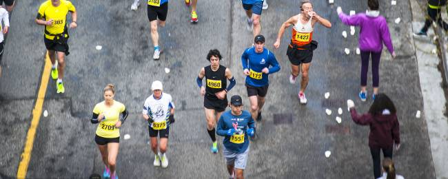 Marathon Runners on a Street