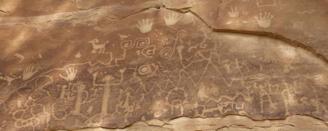 Petroglyph from Native American tribe in Colorado.