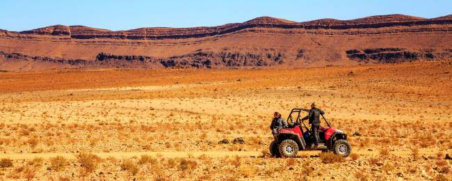 Razor Tour Through Moroccan Desert