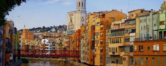 Cathedral and River in Girona