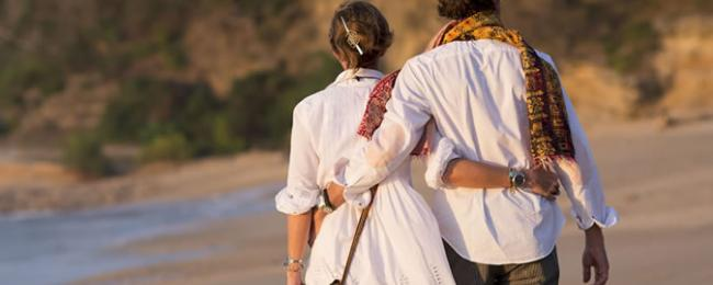 Couple on a Beach Walk