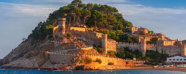 Tossa de Mar in Costa Brava, Spain