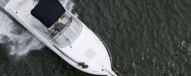 Private Speedboat Overhead View