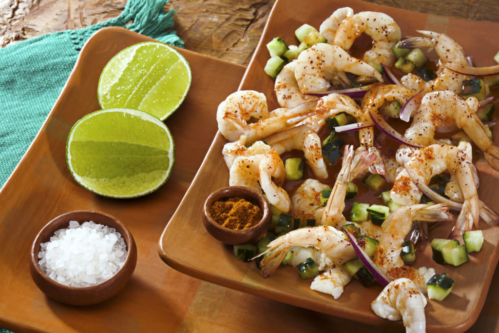 Shrimp, Lime and Salt