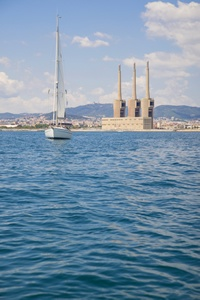 Sailing in Barcelona