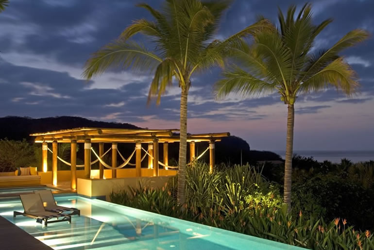 Casa Querencia Pool at Night
