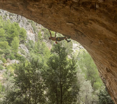 Overhanging Climbing on Mallorca