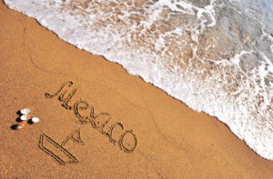 Mexico in Sand Writing