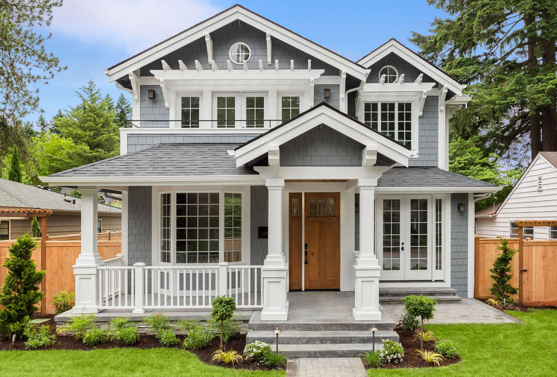 Luxury rental with porch