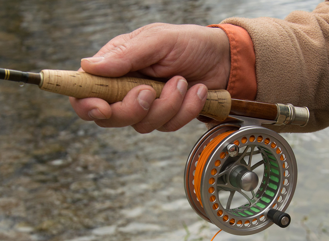 Fly fishing reel in Telluride