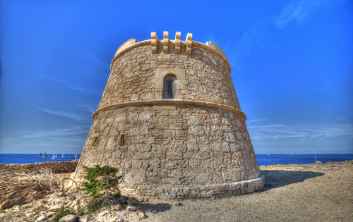 Defense Tower of Can Marroig, Formentera Spain
