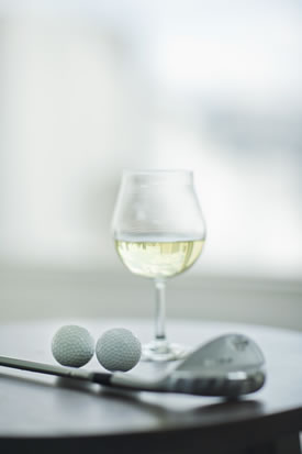 White Wine with Golf Club