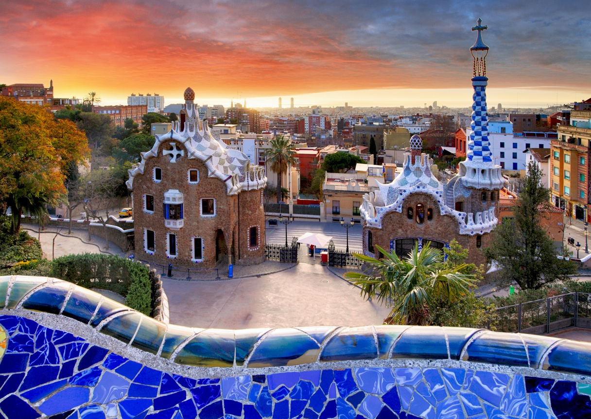 Sunset View at Park Guell