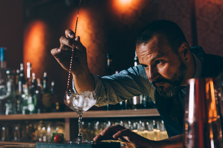Bartender Creating a Drink