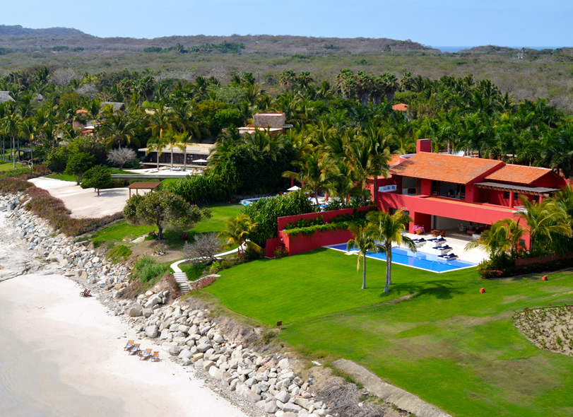 Aerial Shot of Villa Pacifica
