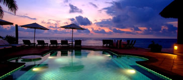 Residents Beach Club Pool at Sunset