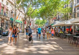 Las Rambla Popular Shopping and Food