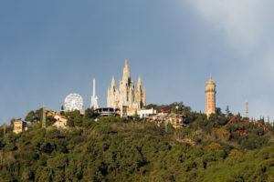 View of Tibidabo Park on the Hill